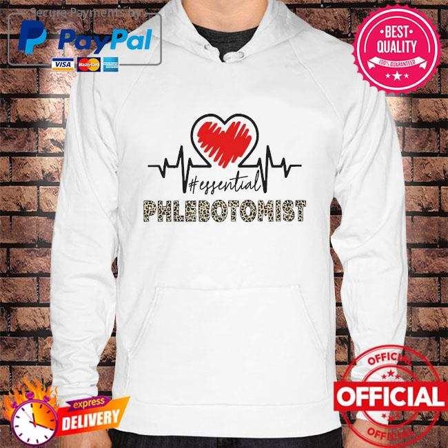 Heartbeat #essential phlebotomist s Hoodie white