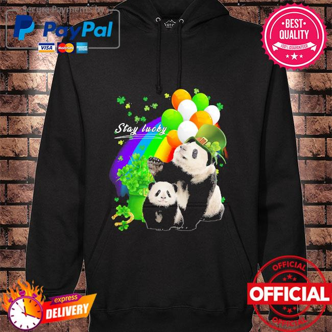 LGBT Panda stay lucky st patrick's day s hoodie black
