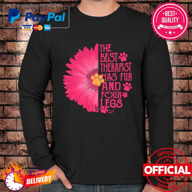 Sunflower the best therapist has fur and four legs s Long sleeve black