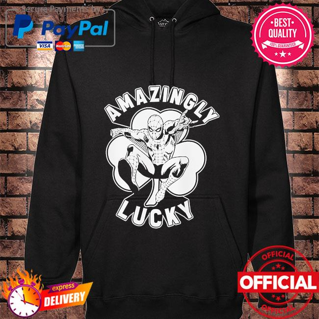 Marvel spider-man lucky spidey hoodie black