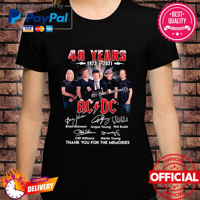 Official 48 years ACDC thank you for the memories signatures shirt