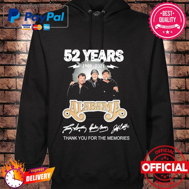 Official 52 years Alabama thank you for the memories signatures hoodie black