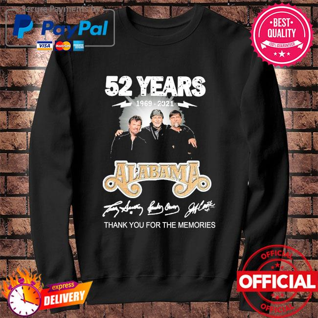 Official 52 years Alabama thank you for the memories signatures Sweater black