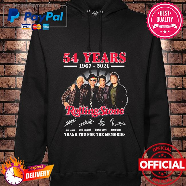 Official 54 years Rolling Stone thank you for the memories signatures hoodie black