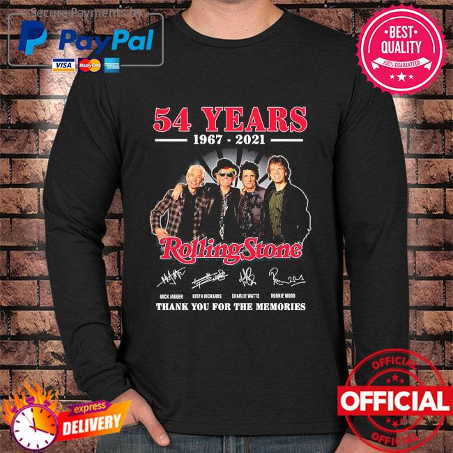 Official 54 years Rolling Stone thank you for the memories signatures Long sleeve black