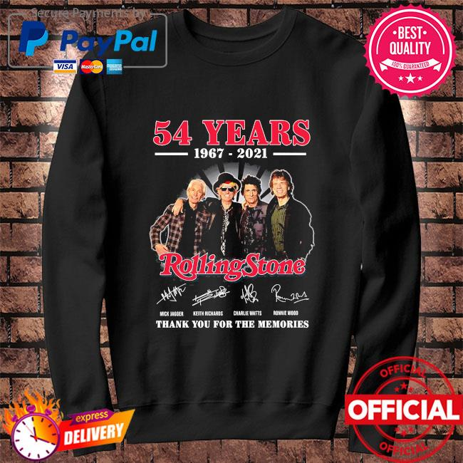 Official 54 years Rolling Stone thank you for the memories signatures Sweater black
