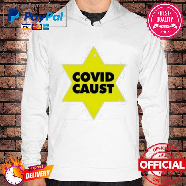 Official Covid caust Hoodie white