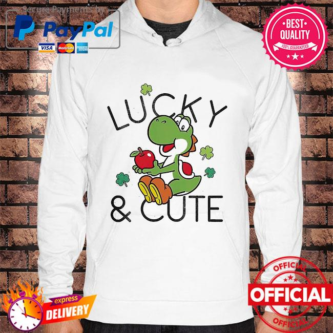 Official Mario lucky and cute yoshi Hoodie white