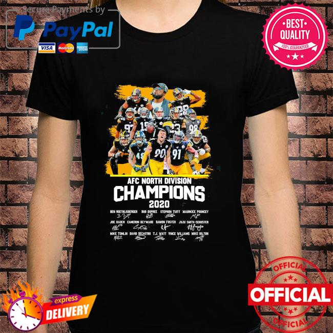 Pittsburgh Steelers afc north division champion 2020 signatures shirt