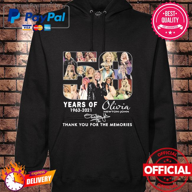 58 years Olivia thank you for the memories signature hoodie black