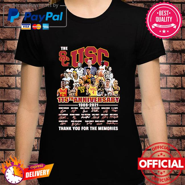 The Usc 115th anniversary thank you for the memories signatures shirt