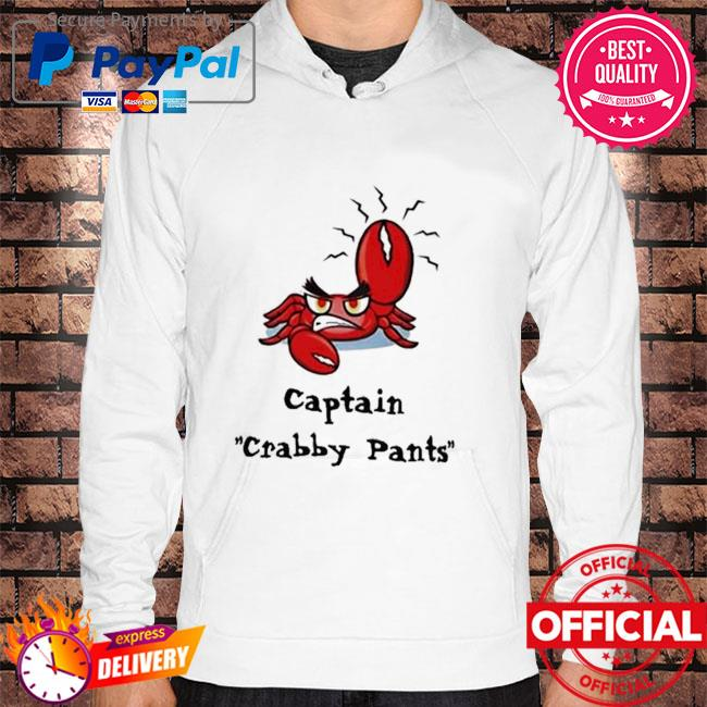 Crab captain crabby pants Hoodie white