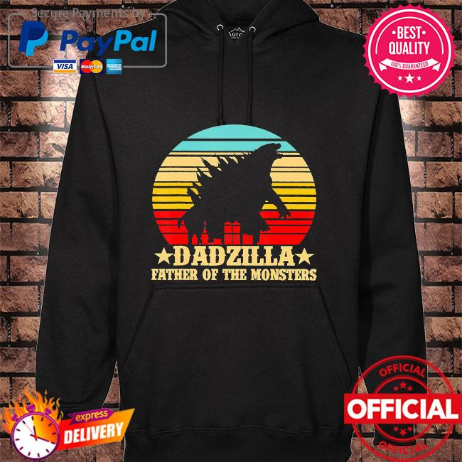 Dadzilla father of the monsters vintage hoodie black