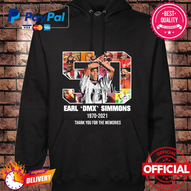 Earl Dmx simmons 1970 2021 thank you for the memories hoodie black