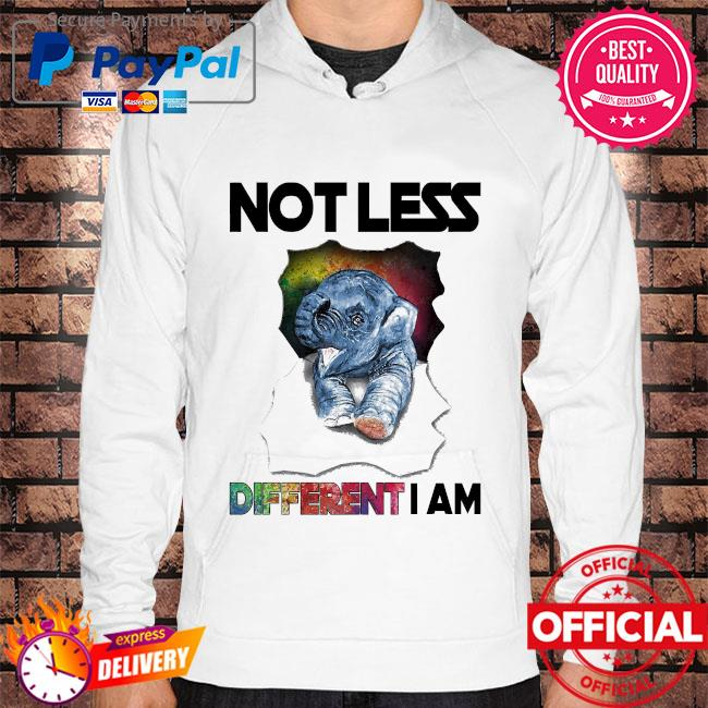 Elephant not less different I am Hoodie white