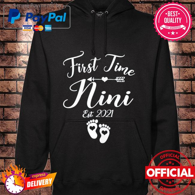 First time nini est 2021 matching family mother's day hoodie black