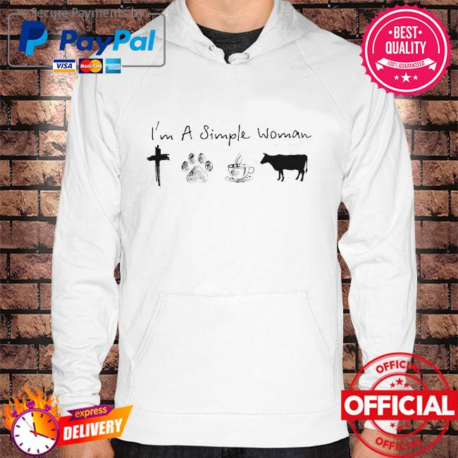 I'm a simple woman Jesus dog coffee and horse Hoodie white
