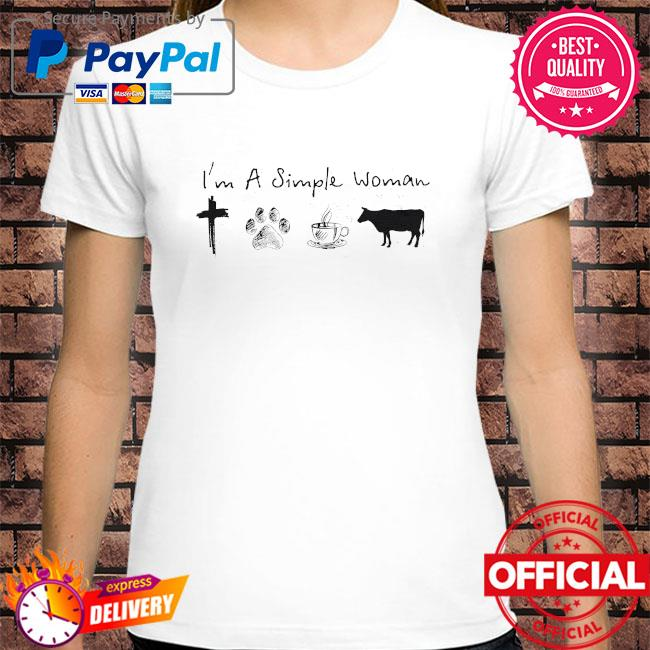 I'm a simple woman Jesus dog coffee and horse shirt