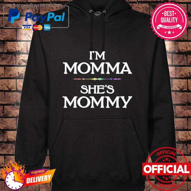 I'm momma she's mommy lesbian mother's day hoodie black