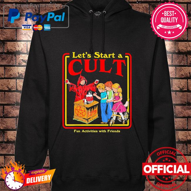 Let's start a cult satanic vintage horror edgy hoodie black