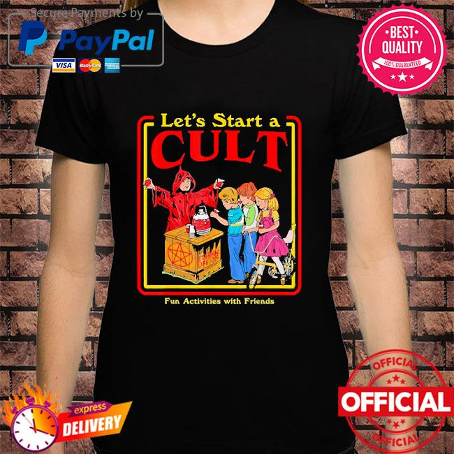 Let's start a cult satanic vintage horror edgy shirt