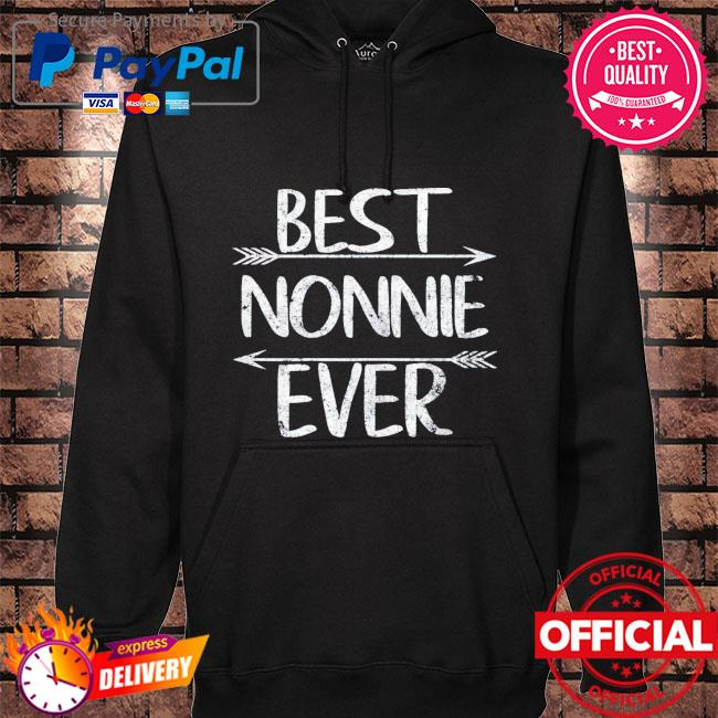 Mother's day grandma gift best nonnie ever hoodie black