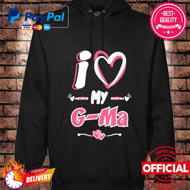 Mother's day I love my g-ma hoodie black