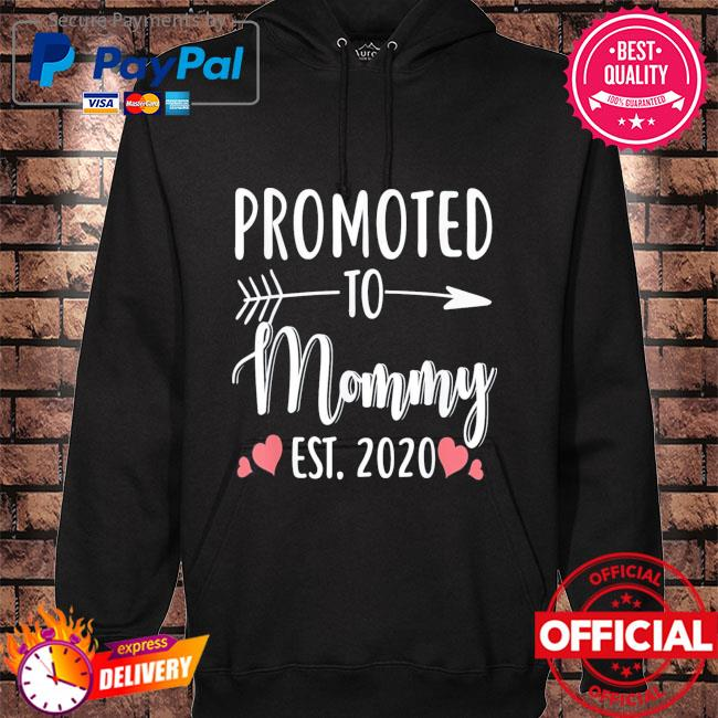 Mother's day promoted to mommy est 2021 hoodie black