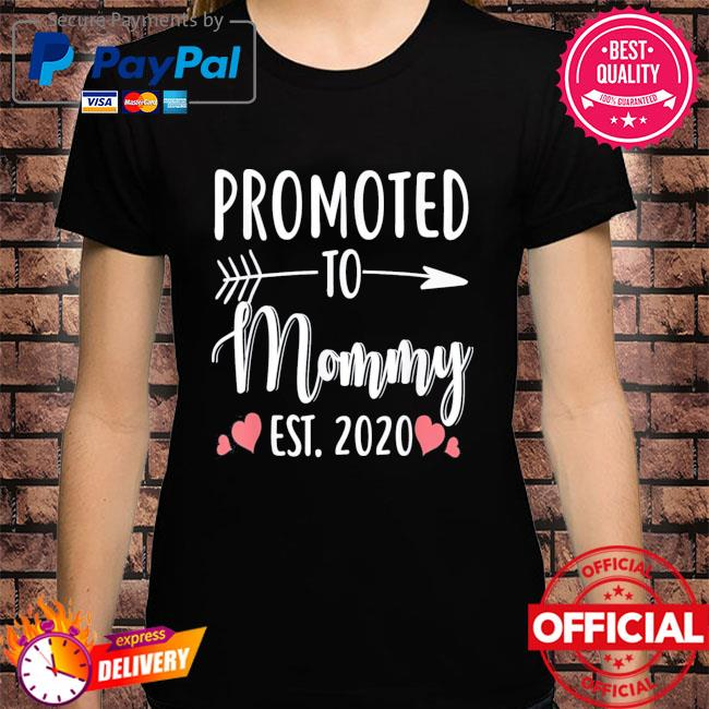 Mother's day promoted to mommy est 2021 shirt