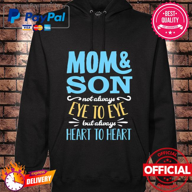 Mothers day shirt from son mom partnerlook hoodie black
