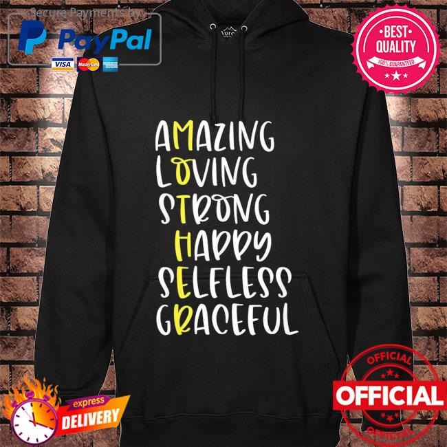 Mothers definition amazing loving strong mother's day hoodie black
