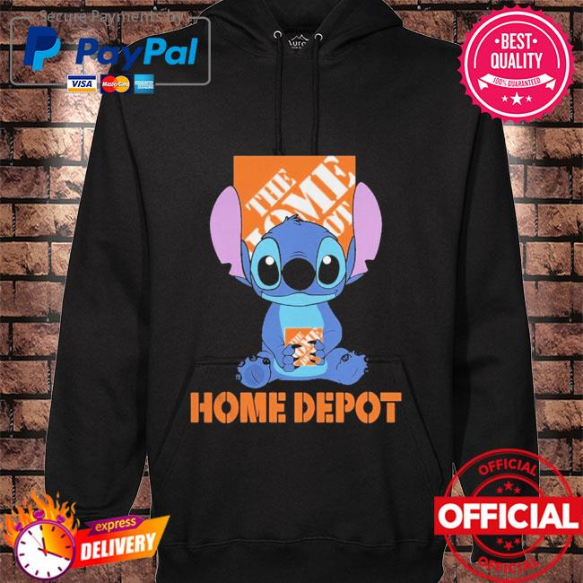 Official Baby stitch hug Home Depot 2021 hoodie black