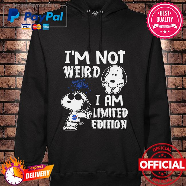Snoopy I'm not weird I'm limited edition hoodie black