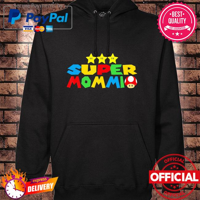 Super mommio video game lover mothers day hoodie black