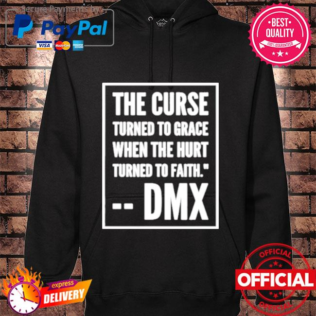 The curse turned to grace when the hurt turned to faith hoodie black