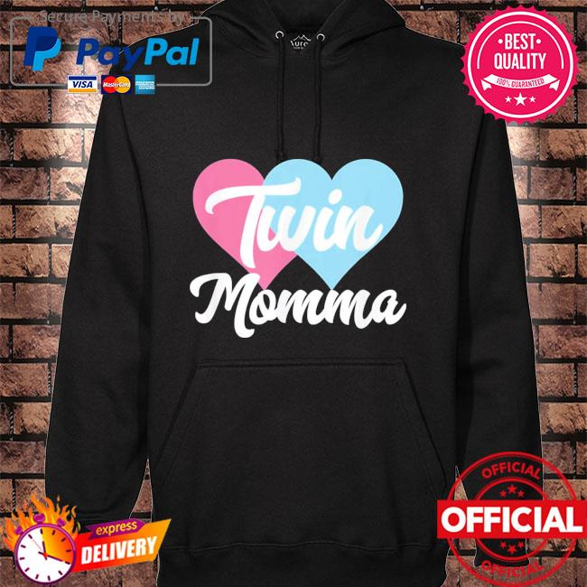 Twin momma mothers day fraternal twins mom hoodie black