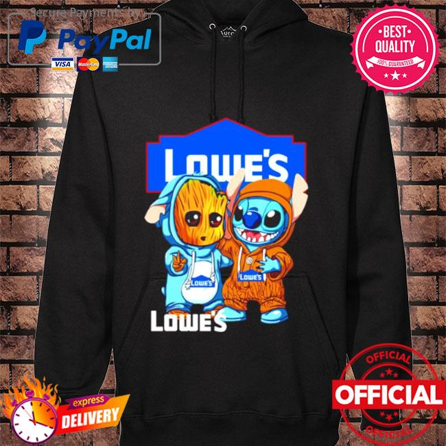Baby groot and stitch lowe's s hoodie black