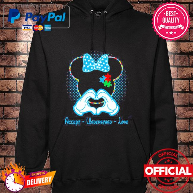 Best minnie mouse accept understand love autism awareness puzzle s hoodie black