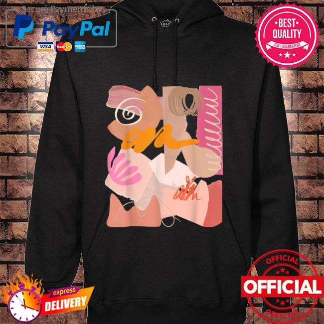Cool art on a shirt wearable abstract design pastel color s hoodie black