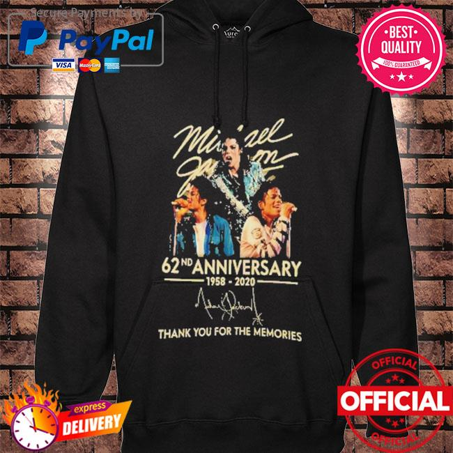 Michael jackson 62nd anniversary 1958-2020 signature thank you for the memories s hoodie black