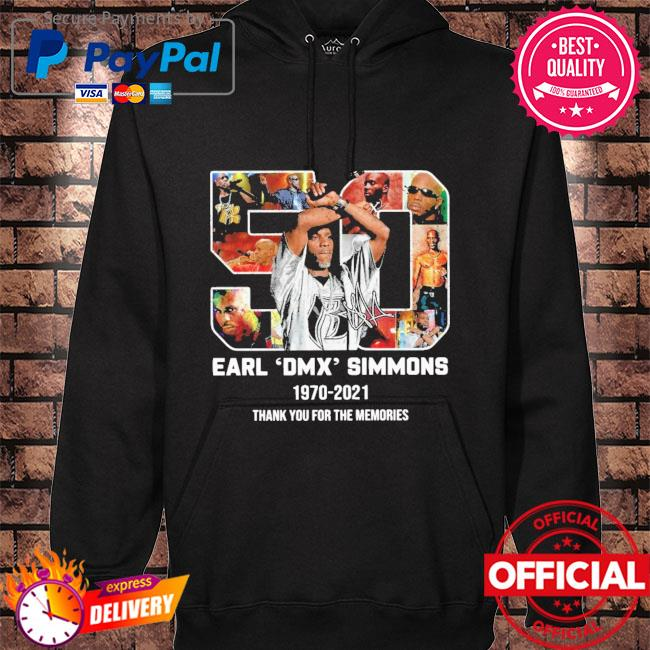 Official earl dmx simmons 1970-2021 signature thank you for the memories s hoodie black