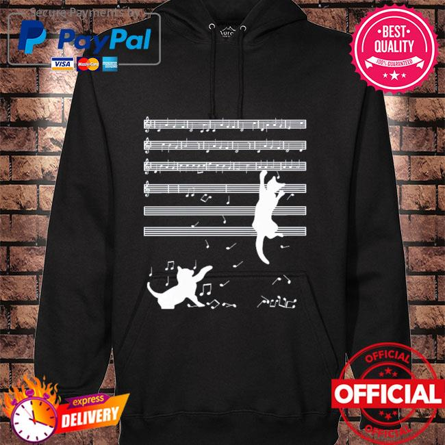 Original 2021 cats playing musical notes and make it down s hoodie black