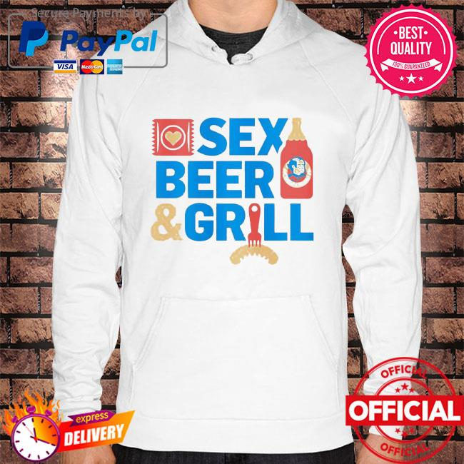 Sex Beer and girl s Hoodie white