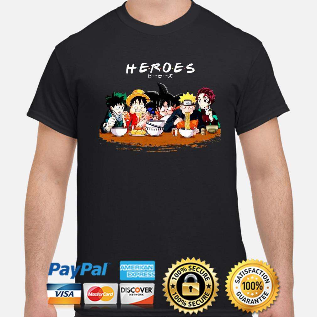 Anime Manga Heroes Friends Tv show shirt