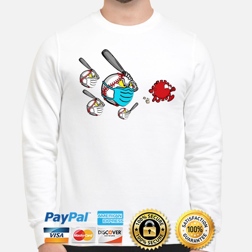 Baseball chase fight Coronavirus s sweater