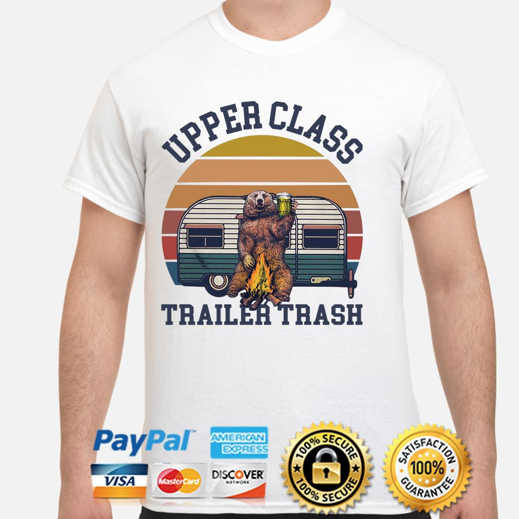 Bear Camping upper class trailer trash vintage shirt