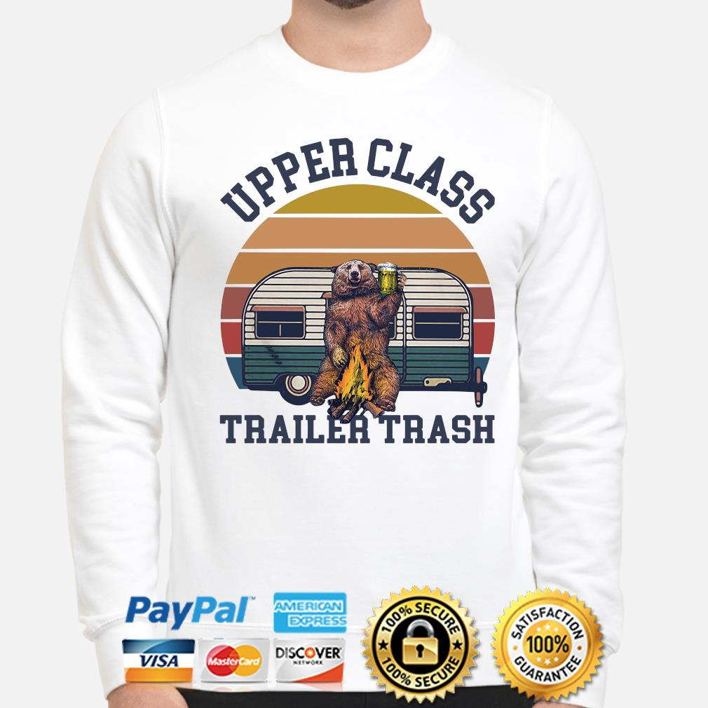 Bear Camping upper class trailer trash vintage s sweater