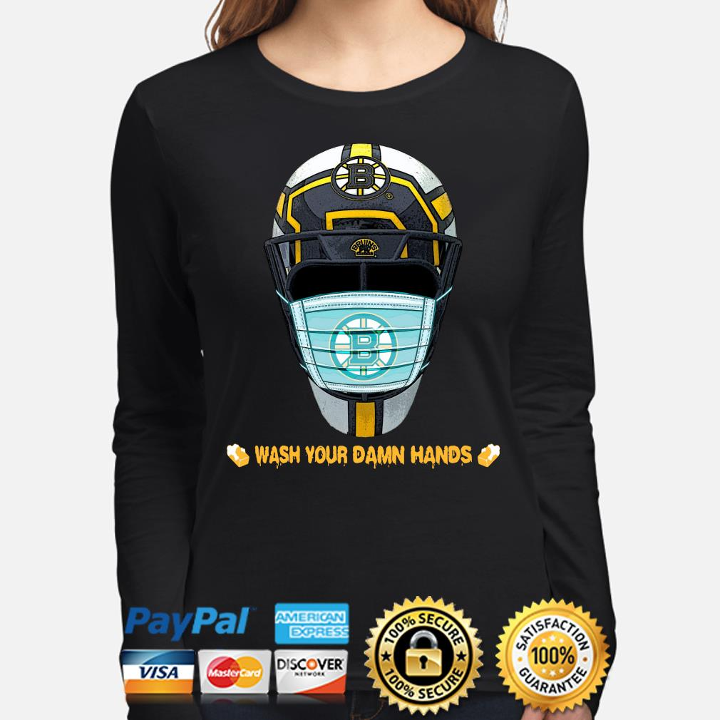 Boston Bruins wash your damn hands s long-sleeve