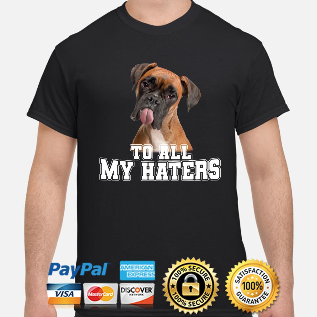 Boxer to all my hater shirt