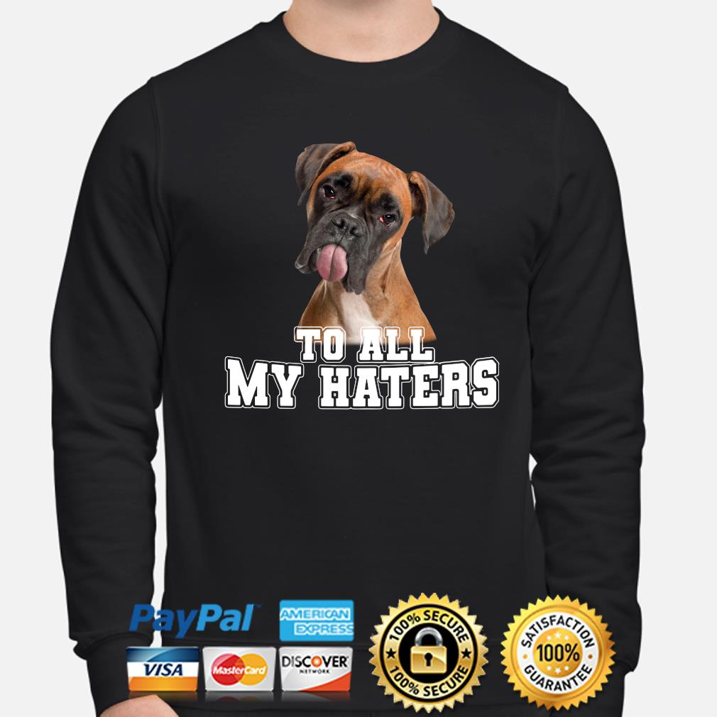 Boxer to all my hater s sweater